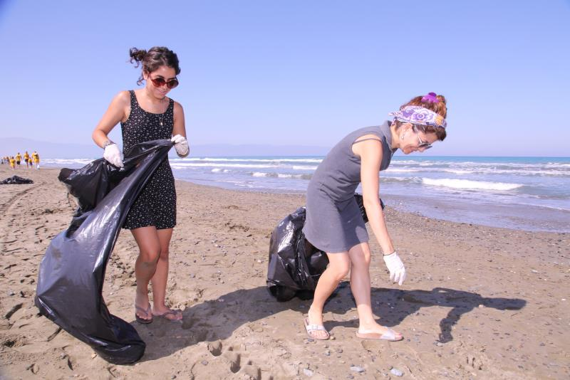 Sahiler temiz, kaplumbağalar koruma altında 2