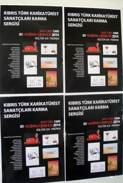 Kıbrıslı Türk çizerlerin eserleri Kosovada 1