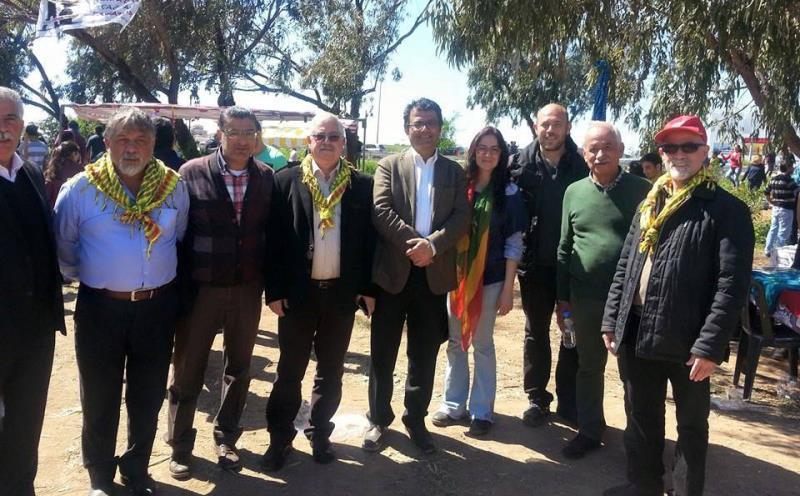 İskelede Newroz ateşi yakıldı 4
