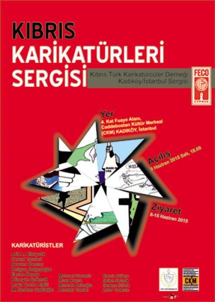 Kıbrıs Karikatürleri İstanbul'da Sergileniyor... 1