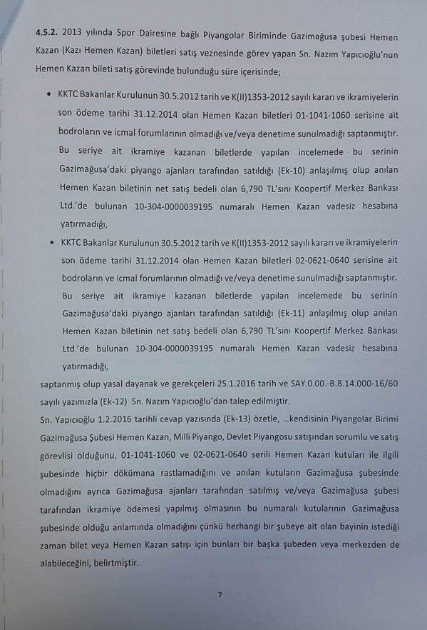 Devlet Piyangosu Sayıştay Raporu 10