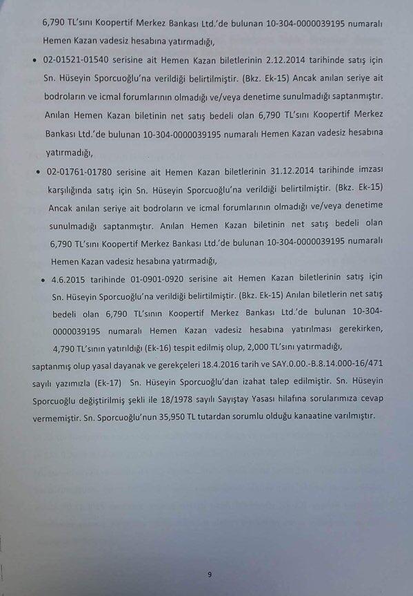 Devlet Piyangosu Sayıştay Raporu 12