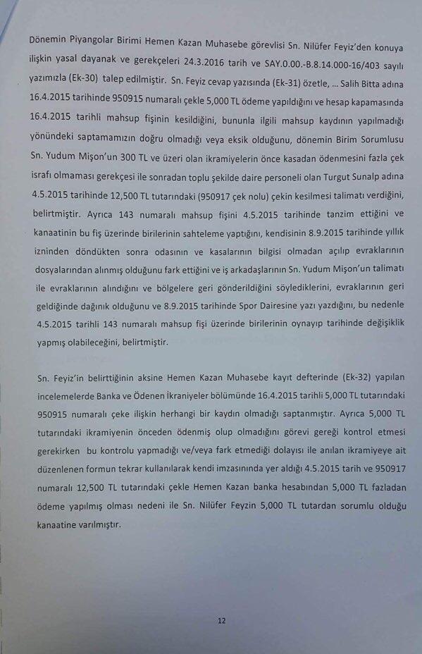 Devlet Piyangosu Sayıştay Raporu 15