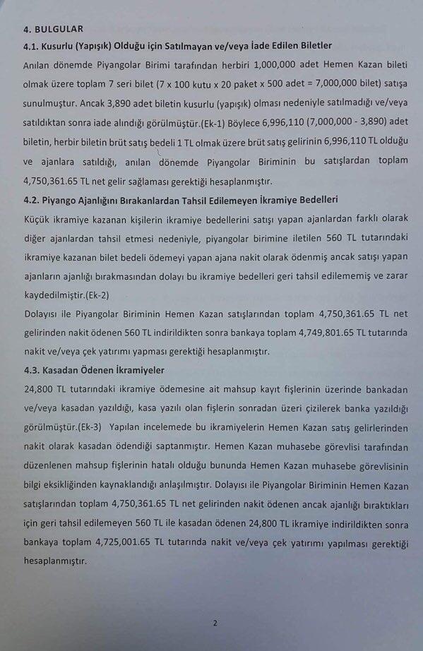 Devlet Piyangosu Sayıştay Raporu 5