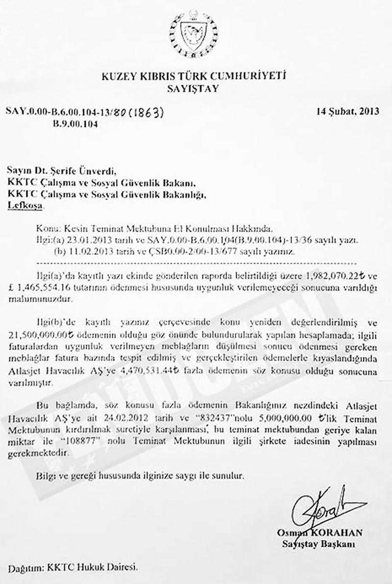 GİZLİ KARARLA 3 MİLYON STERLİN... İŞTE BELGELER 6