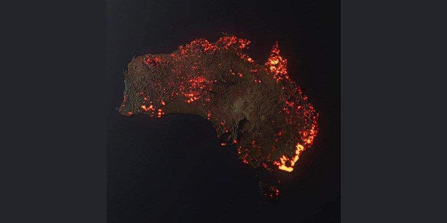 Bir kıta yanıyor!