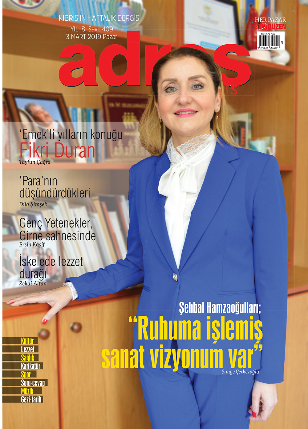 Adres Kıbrıs 409 Sayısı ISSN 2672-7560