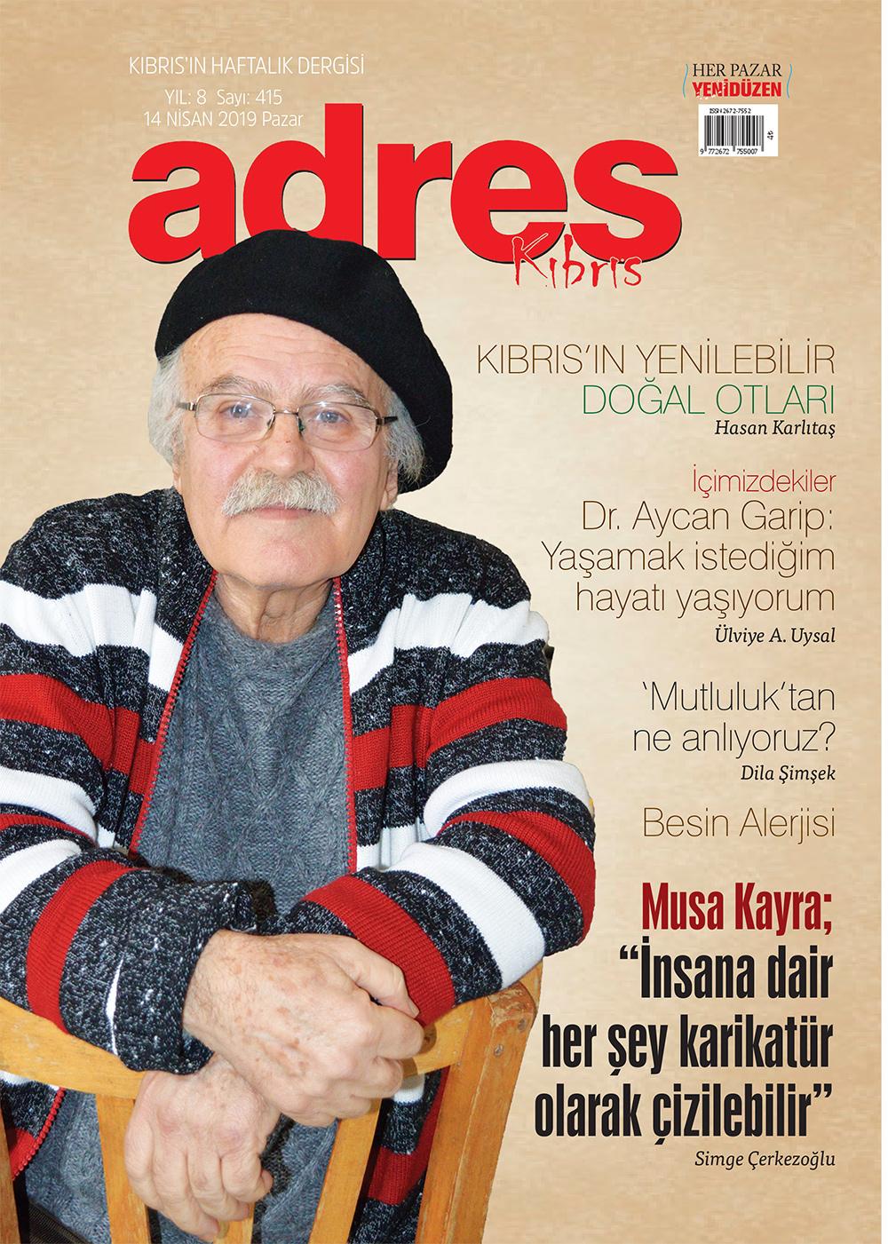Adres Kıbrıs 415 Sayısı ISSN 2672-7560