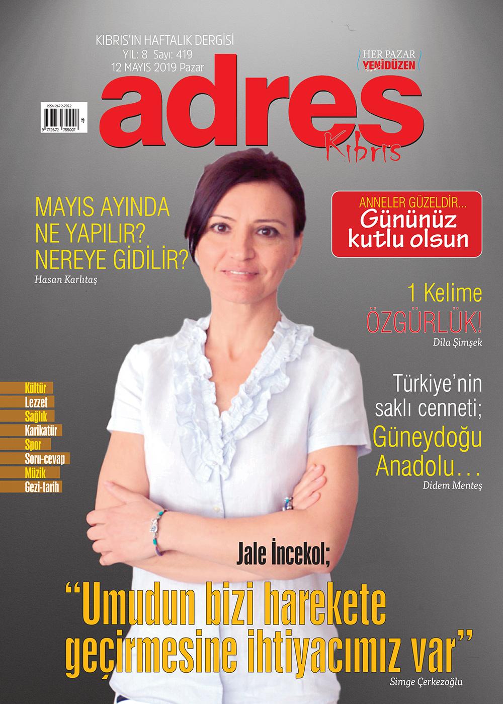 Adres Kıbrıs 419 Sayısı ISSN 2672-7560