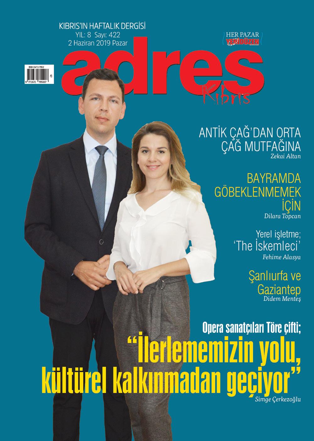 Adres Kıbrıs 422 Sayısı ISSN 2672-7560