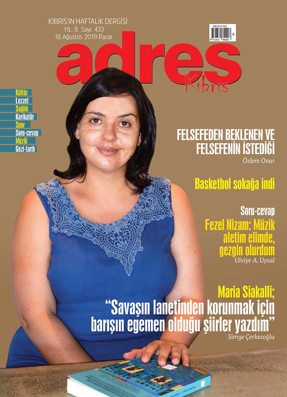Adres Kıbrıs 433 Sayısı ISSN 2672-7560