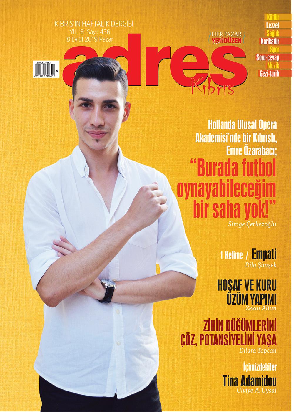 Adres Kıbrıs 436 Sayısı ISSN 2672-7560