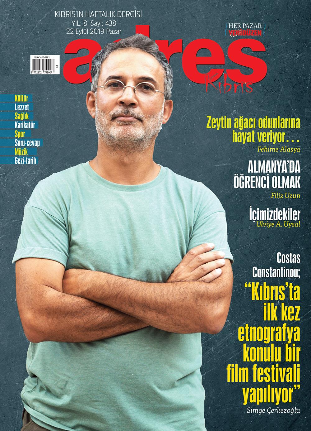 Adres Kıbrıs 438 Sayısı ISSN 2672-7560