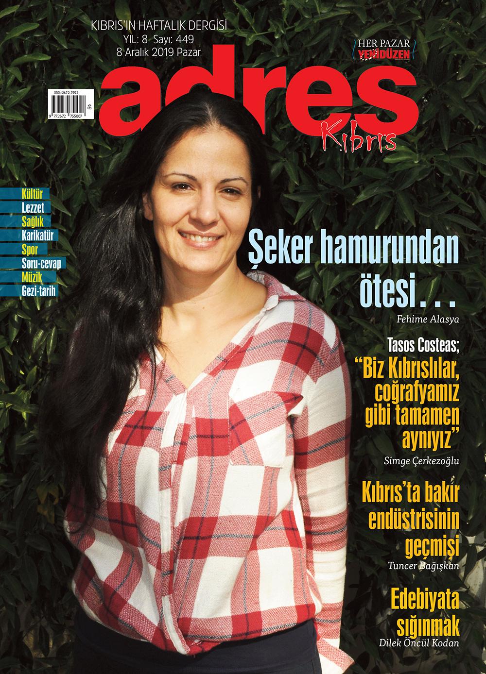 Adres Kıbrıs 449 Sayısı ISSN 2672-7560