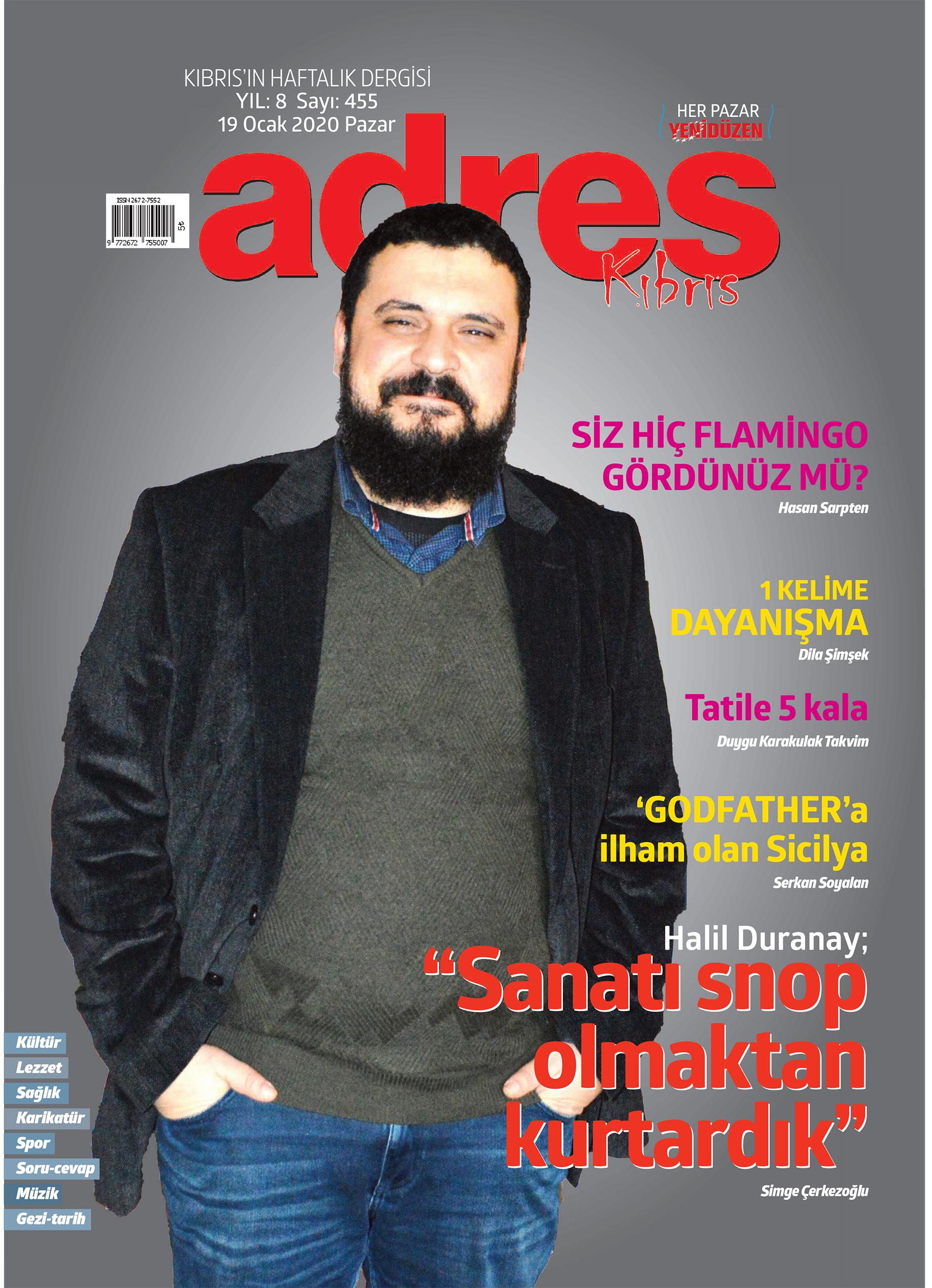 Adres Kıbrıs 455 Sayısı ISSN 2672-7560