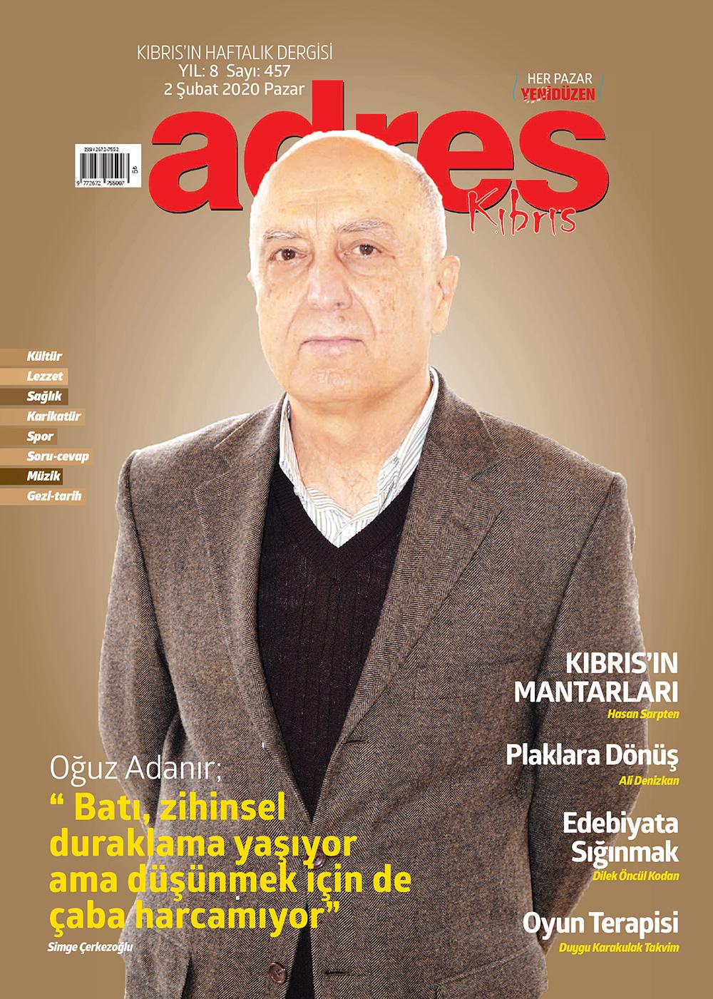 Adres Kıbrıs 457 Sayısı ISSN 2672-7560