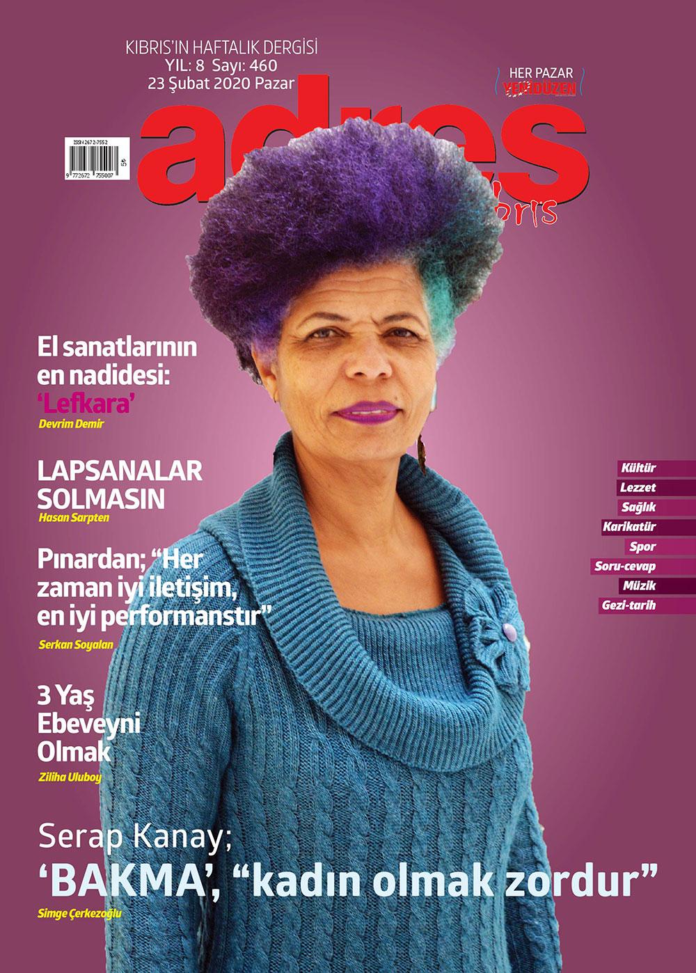 Adres Kıbrıs 460 Sayısı ISSN 2672-7560
