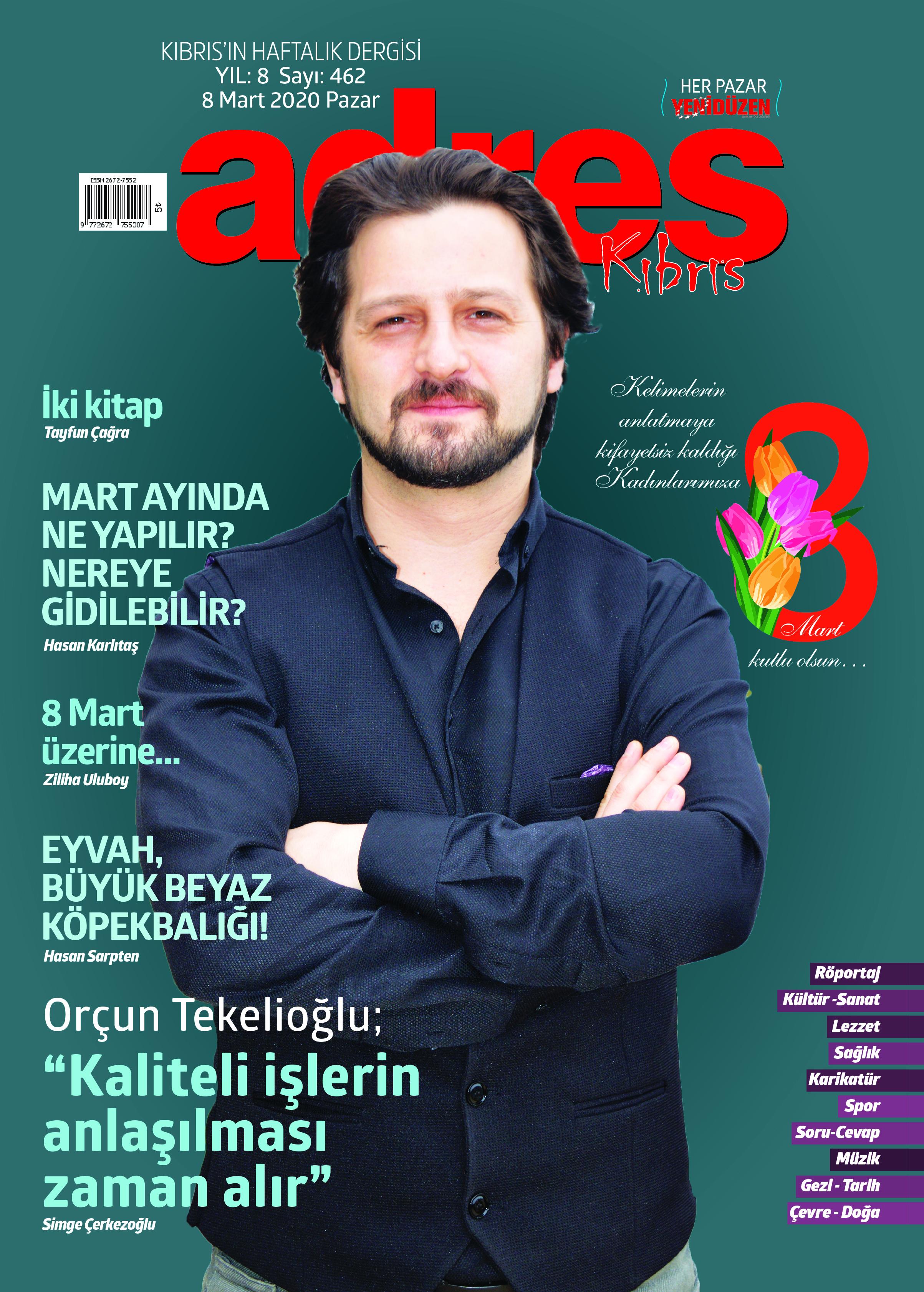 Adres Kıbrıs 462 Sayısı ISSN 2672-7560