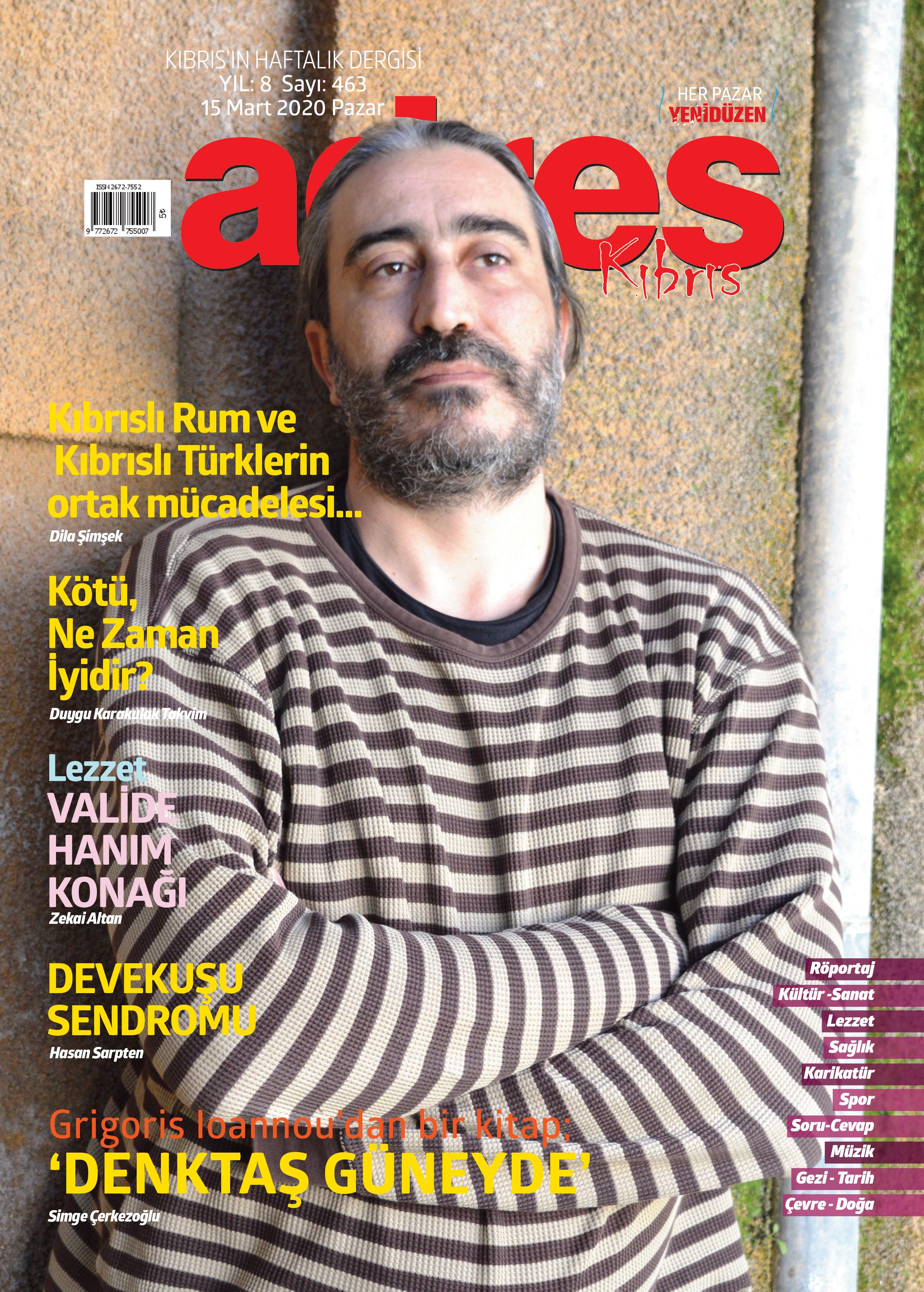 Adres Kıbrıs 463 Sayısı ISSN 2672-7560