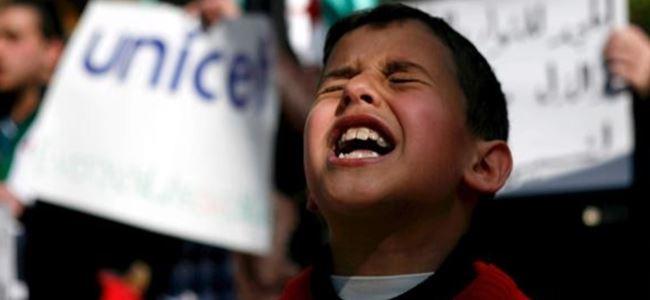Suriyede çocukların çektiği acı tarifsiz