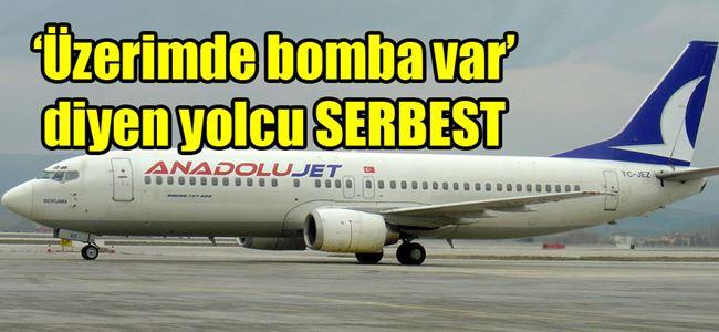 Ercan- Ankara seferinde bomba paniği