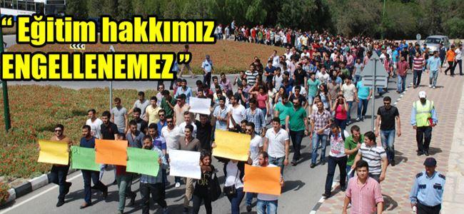 Kürt öğrenciler eylem yaptı