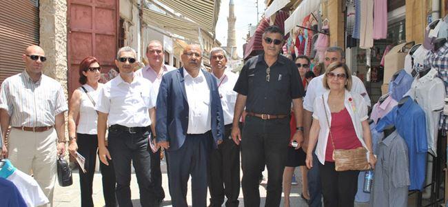 Dana ve DP-UG LTB meclis adayları esnafı ziyaret etti