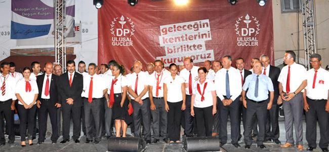 Akdoğan'da DP'den miting