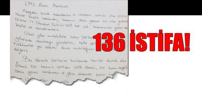 DP'de İSTİFA DEPREMİ