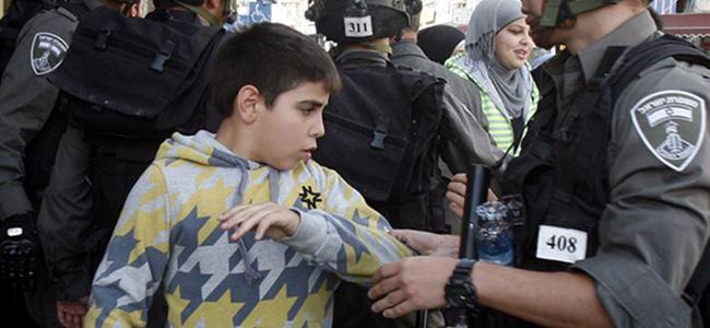 3 bin Filistinli çocuğa gözaltı