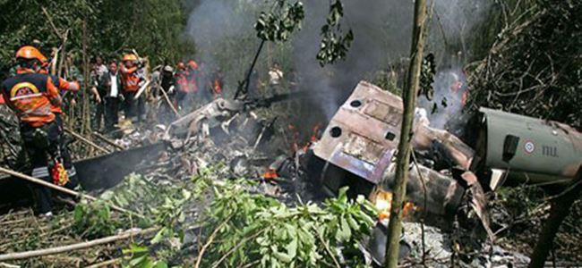 Askeri helikopter düştü, 16 kişi öldü