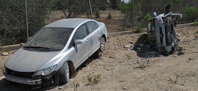 Lefkoşada trafik kazası :2 YARALI