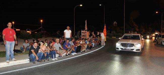 CAS çalışanları Ercanda EYLEMDE