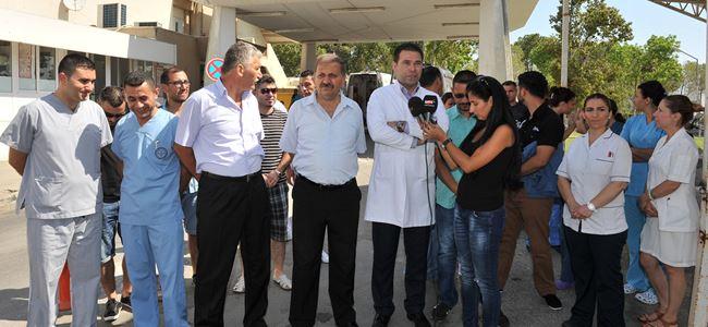 Hastanede darp protesto edildi
