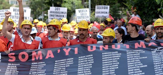 Somalı madenciler TBMM'ye yürüdü