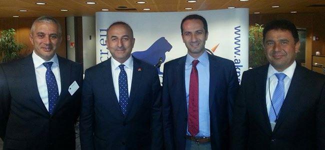 Meclis Heyeti Strazburg'da Çavuşoğlu ile görüştü