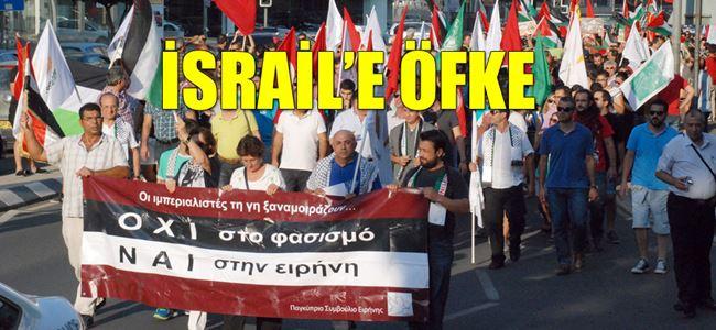 Kıbrıslı barışseverler 'Özgür Filistin' için yürüdü…