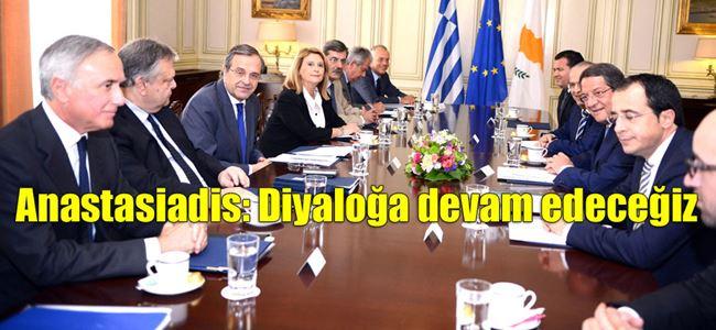 Anastasiadis, Samaras ile Kıbrıs konusunu görüştü