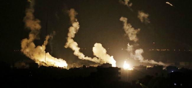 İsrailden Gazzeye ağır bombardıman