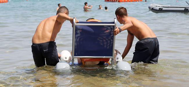 Engelli vatandaşlar denize girebilecek