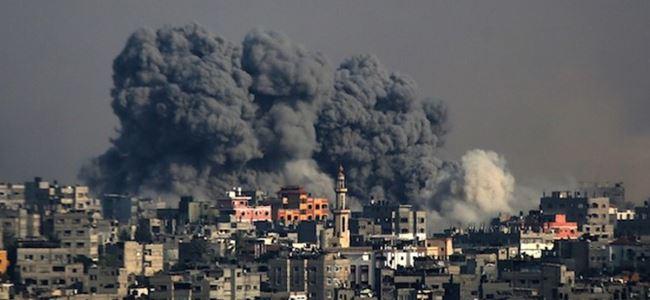 İsrail'den Gazze'ye roket yağmuru