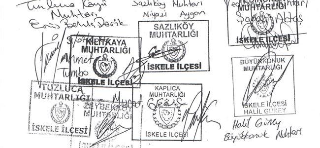 Büyükkonuk'ta imza kampanyası başlatıldı