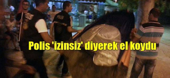 Protesto çadırına POLİS ENGELİ