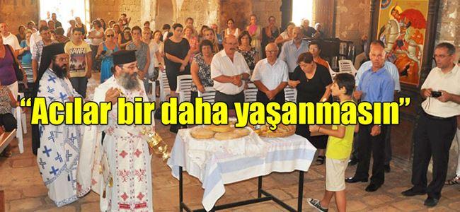 Kserinos Kilisesi'nde, barış mesajı