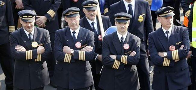 Pilotlar greve gidiyor