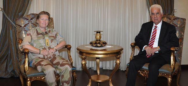 Eroğlu, BMnin yeni komutanını kabul etti