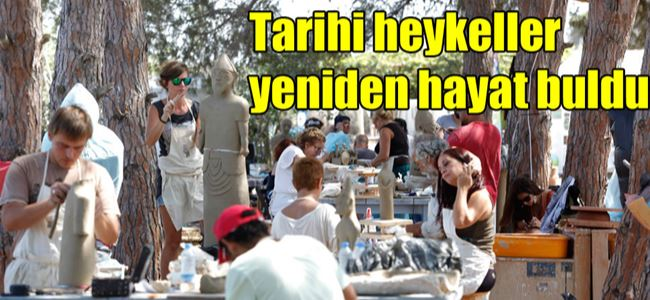 Heykel sergisi BUGÜN Akdeniz Köyünde