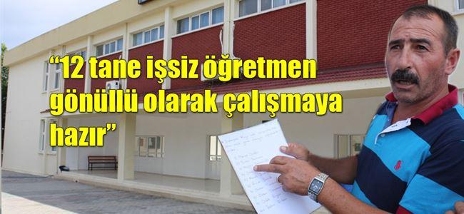 Recep Tayyip Erdoğan Ortaokulu'nda eylem