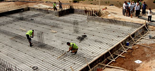 Yeşilköyde depo inşaatına başlandı