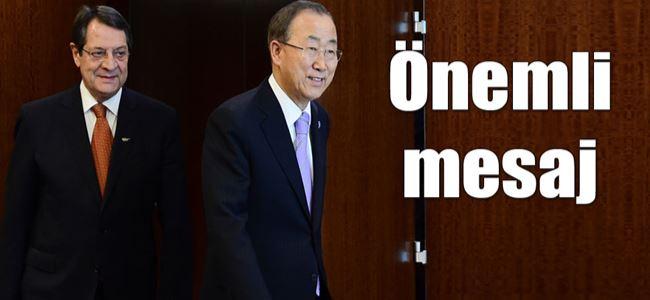 Anastasiadis, BMGS Ban Ki Moon'la görüştü…
